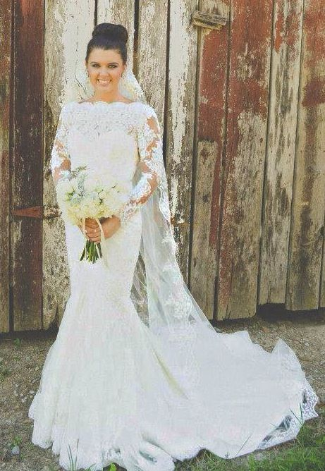 Long sleeve lace wedding gown delicate lace pinterest for Pinterest wedding dress lace