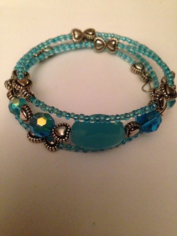 beaded memory wire bracelet on etsy new designs added today