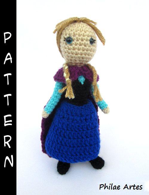 Amigurumi Crochet Frozen : Princess Anna (Frozen) - Amigurumi Pattern PDF