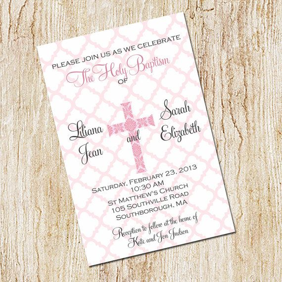 Twin Baptism Invitations is one of our best ideas you might choose for invitation design
