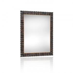 Specchiera da muro artigianale con cornice realizzata in vero legno ...