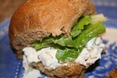 Lemon and Basil Chicken Salad | Rollups Sandwiches and Wraps | Pinter ...