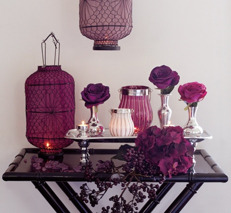 purple and silverware