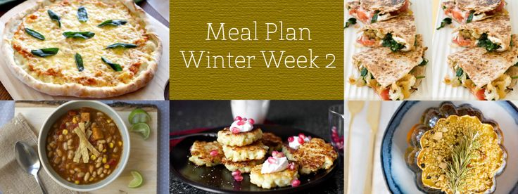 ... & spinach quesadillas, cauliflower & feta fritters with pomegranate