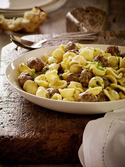 Orecchiette with Orange-Spiced Lamb Meatballs - I don't know about the ...