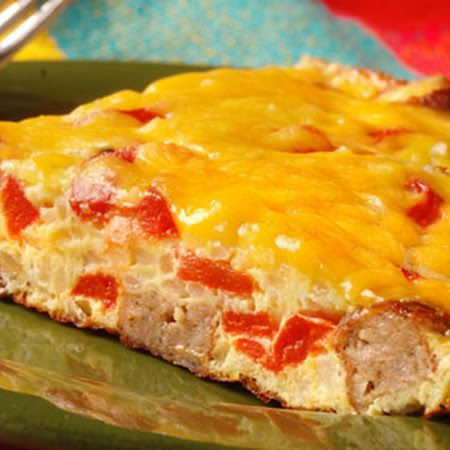 SAUSAGE, POTATO & CHEESE FRITTATA | CoOkBoOk | Pinterest