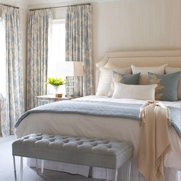 blau creme schlafzimmer interieur design pinterest - Schlafzimmer Design Creme
