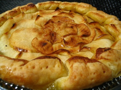 Tarta de hojaldre de manzana