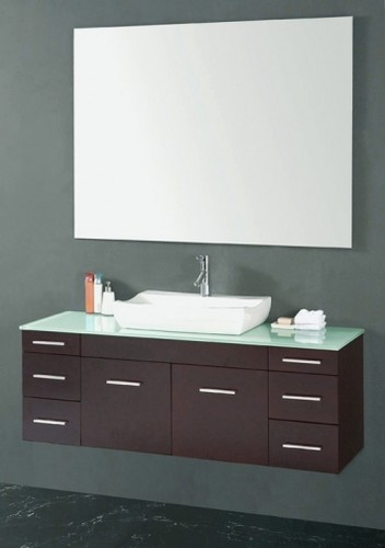 raised sink, counter space, dark vanity For the Home Pinterest