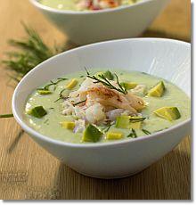 Cucumber and Avocado Soup with Crab on JillHough.com
