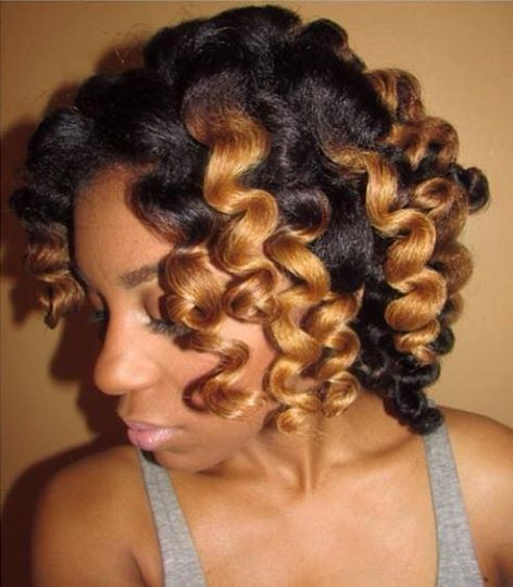 Hairstyles For Short Hair Knots : Bantu knot out http blackhairinformation
