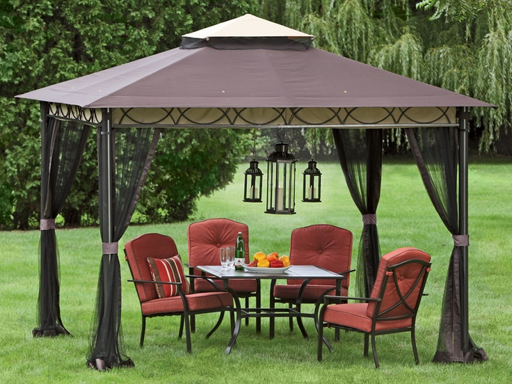 Gazebo adds shade for extra hot days. Hang lights or outdoor ...