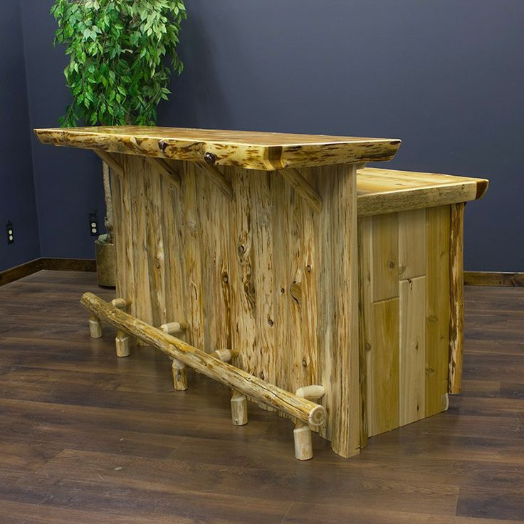 Cedar lake real rustic bar for Diy wood bar
