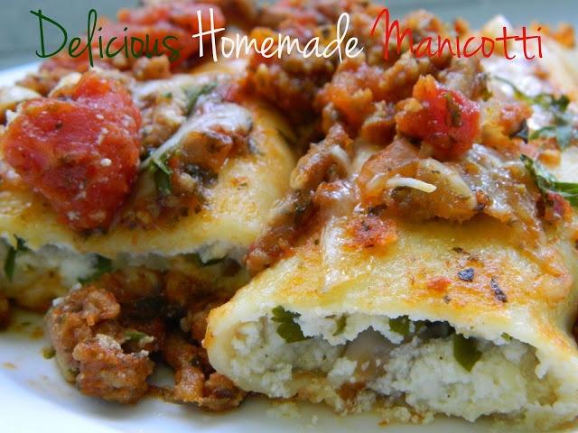 Delicious Homemade Manicotti | Favorite Recipes | Pinterest
