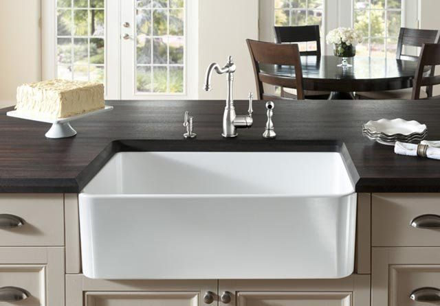 Blanco Apron Sink : Blanco 518540 Cerana 30-inch Farmhouse Kitchen Sink Apron-Front ...