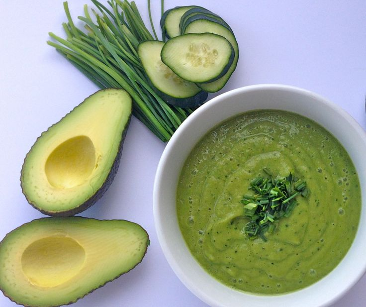 One step (5 min!) chilled avocado and cucumber soup, so easy, so fresh ...