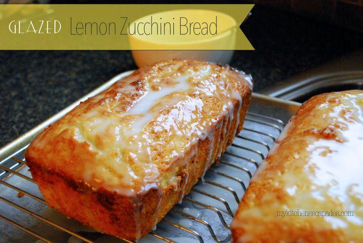 Glazed Lemon Zucchini Bread. I doubled the recipe and used 1/2 c ...