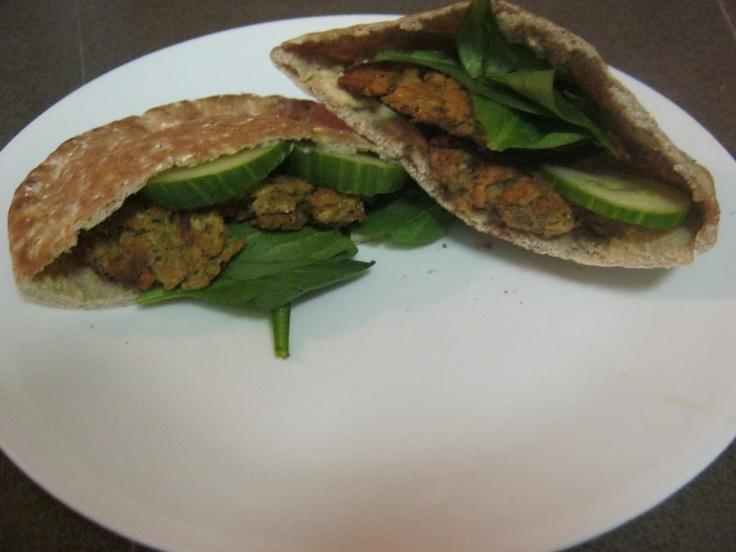 Baked Falafel Sandwich! | foodz | Pinterest