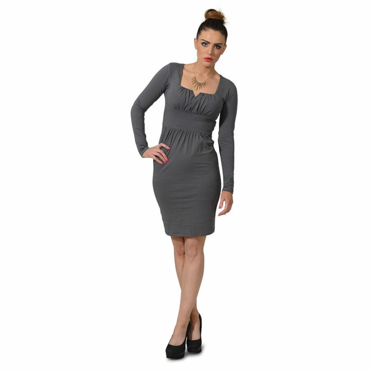 online Womens Ladies Sexy Mini Square Plus V Neck Long Sleeve Tunic ...