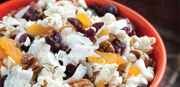 free popcorn trail mix recipes   Popcorn Trail Mix Recipe  Snack ...