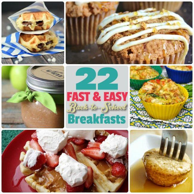 Great Ideas — 22 Fast and Easy Back to School Breakfast Ideas!
