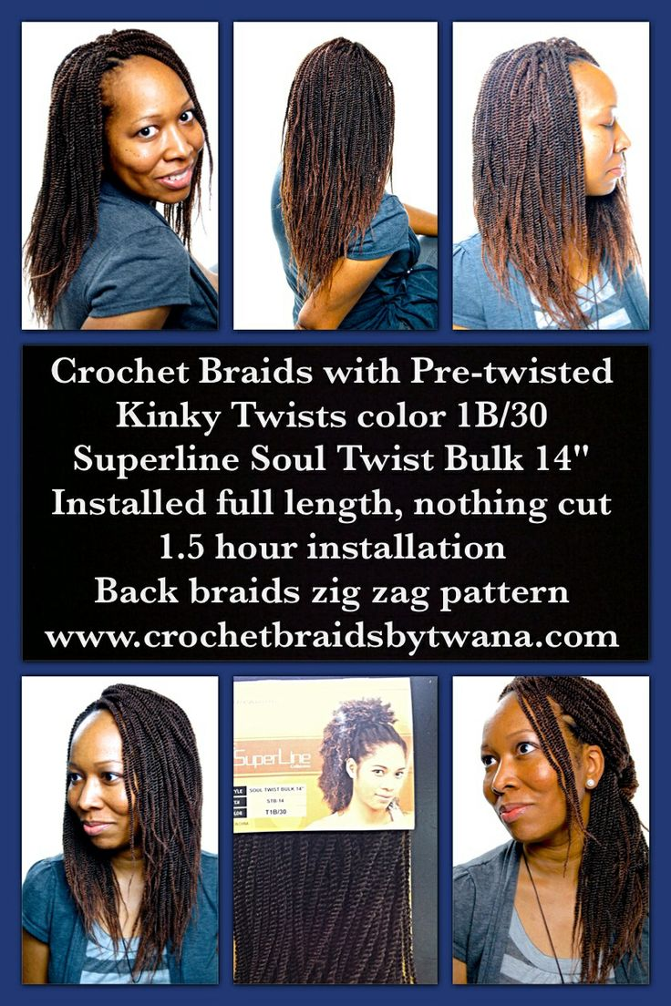 Non Traditional Pre Twisted Crochet Braids Kinky Twist Tutorial ...