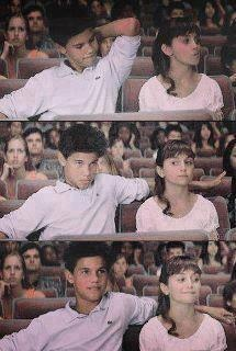This is so cute. A young Taylor Lautner and young Alyson Stoner. Sweet. Young love.