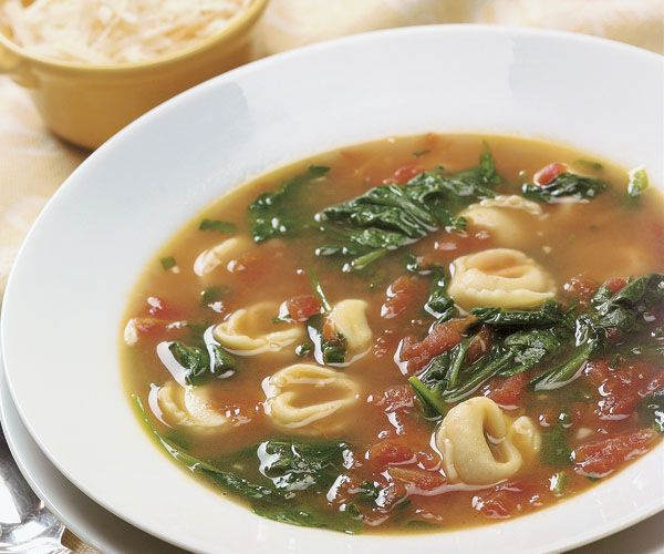 garlicky tortellini spinach amp tomato soup recipe add chicken