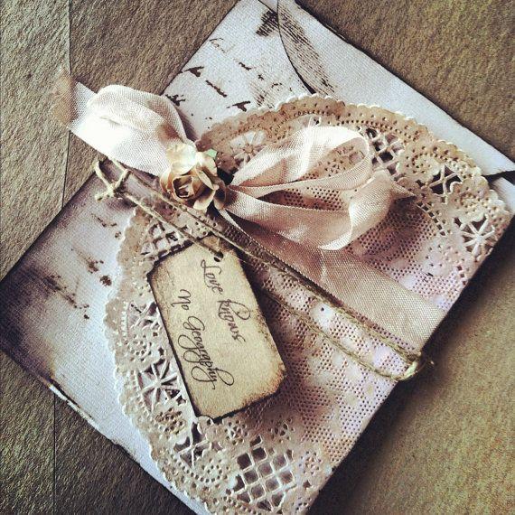 Wedding Invitations Bridal Shower Invitation Save by ShabbyScrap, $7.00