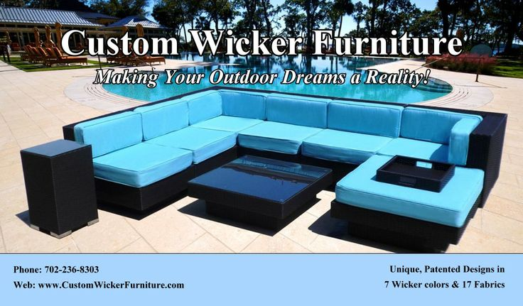Pin by Darla Messenger on Wicker Patio Furniture I designed …