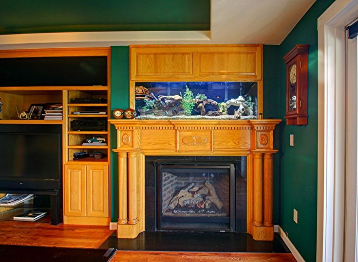 Fireplace with fish tank wanderlust pinterest for Fish tank fireplace
