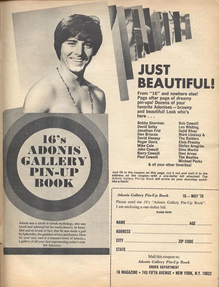 16 Magazine's Adonis Gallery Pin-Up Book — Bobby Sherman