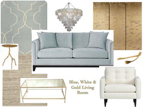 Best Blue Gold White Living Room Living Rooms Pinterest 400 x 300