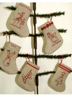 free mini christmas stocking pattern: Stocking pattern