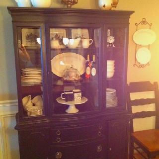 Repurposed hutch | Repurposed furniture | Pinterest