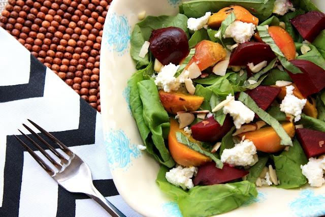 The Bitchin' Kitchin': Roasted Beet Salad With Feta & Arugula