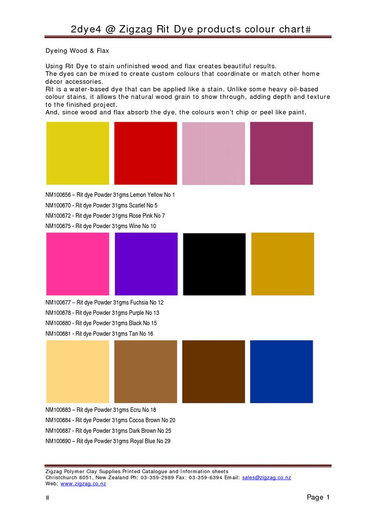 Rit Color Chart Rebellions