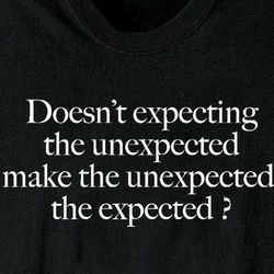 expecting the unexpected Expecting the unexpected shelley noonan december 27, 2017 blog posts , christmas by the time you get around to reading this friend, christmas may have come and gone, and you are caught between the sacred hush of the last week of the old year and the wild expectation of the new.