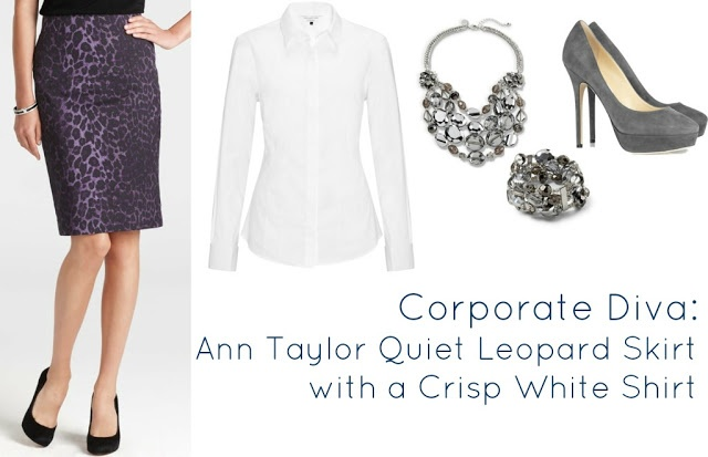 Wardrobe Oxygen: How to style the @Ann Taylor Quiet Leopard Print