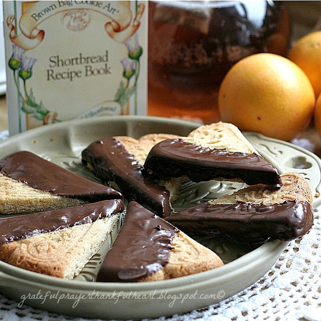 With a Grateful Prayer and a Thankful Heart: Orange Spice Shortbread