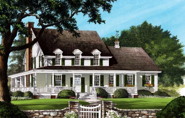 Country Farmhouse Southern House Plan 86245
