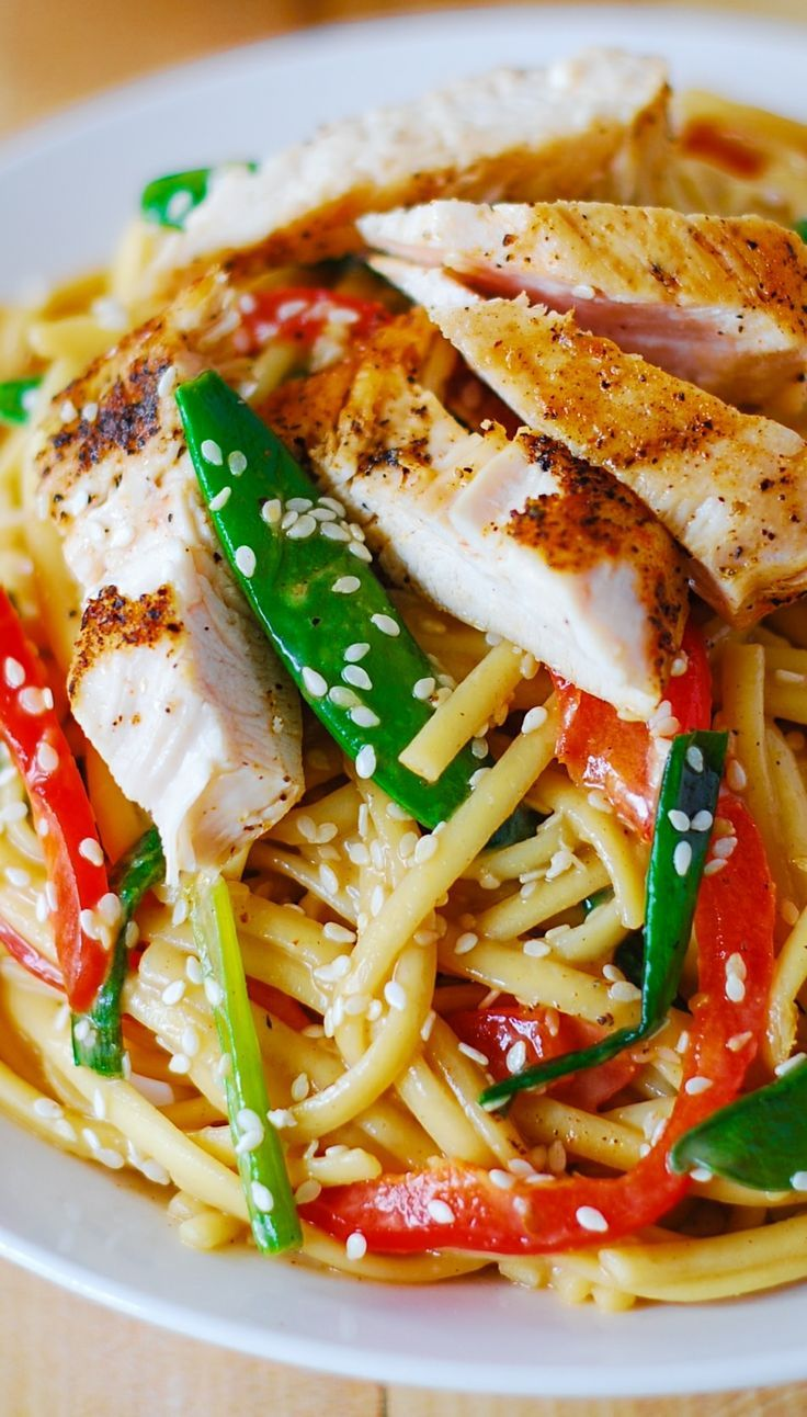 Asian chicken salad with the delicious, creamy, deeply flavored, sweet ...