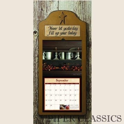 Calendar Wooden Holder : Primitive calendar holder