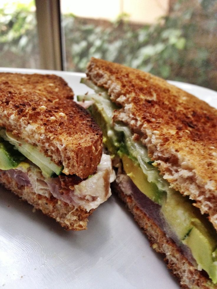 Seared ahi tuna sandwich. Ezekiel break, cucumber, avocado, wasabi ...