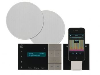 speaker system for bathroom and kitchen with ipod dock systemline