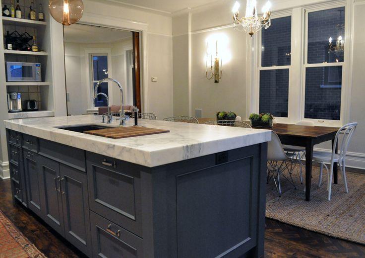 Thick White Marble Countertops Kitchen Pinterest