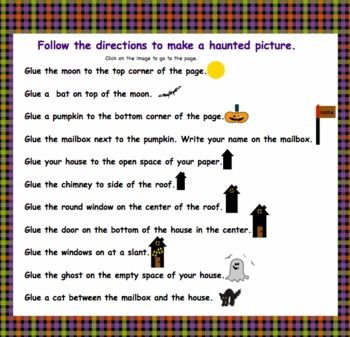 HALLOWEEN CRAFT  FOLLOWING DIRECTIONS  TeachersPayTeacherscom Halloween Craft Directions