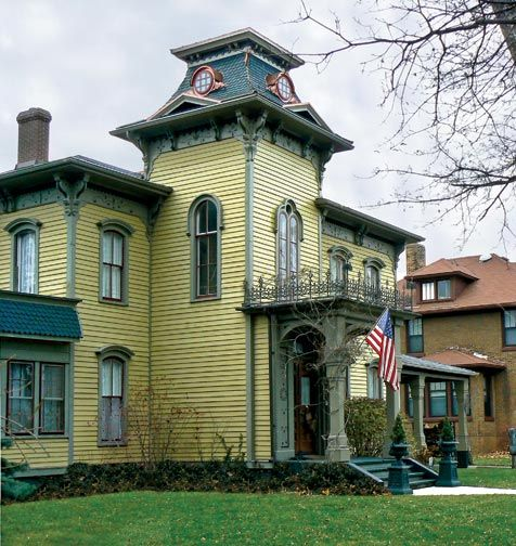 Gorgeous Italianate House With A Mansard Roof In