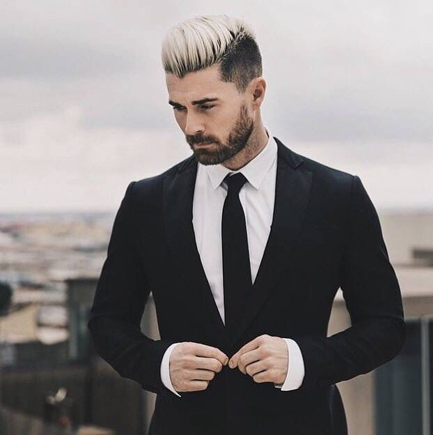 Mens hair color streaks pictures