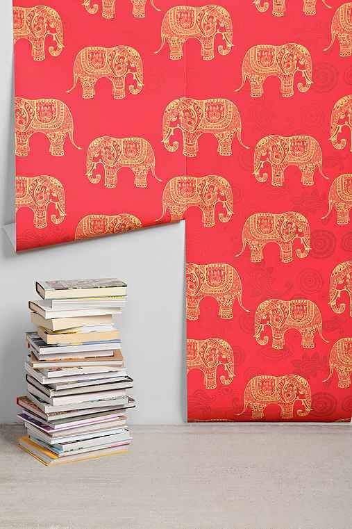 walls need love elephant removable wallpaper. Black Bedroom Furniture Sets. Home Design Ideas